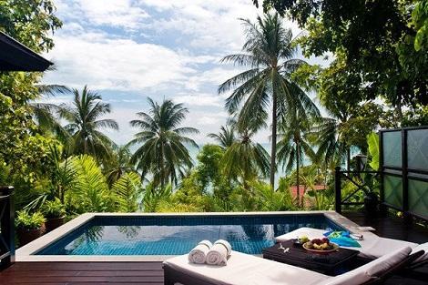 サムイ島:ザ トンサイベイ プールヴィラ テラス イメージ