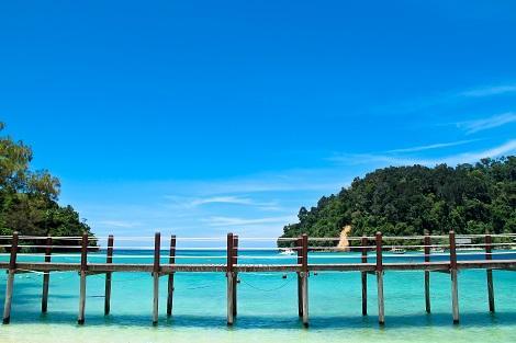 コタキナバル:市街から船で約15分で行けるサピ島