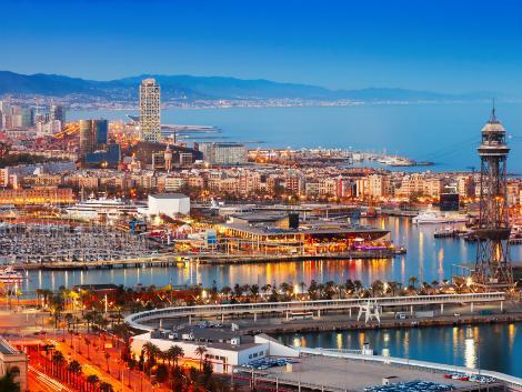 ◇◎バルセロナ:夕暮れの港