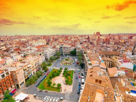 ◇◎バレンシア:夕暮れの街並み