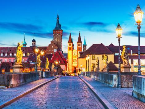 ◇◎ビュルツブルク:アルテマイン橋の夕景