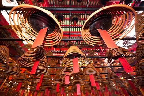 香港:文武廟の巨大線香