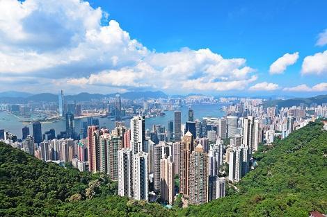 香港:ヴィクトリアピークからの景色
