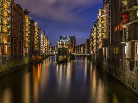 ◇ハンブルク:夜の倉庫街