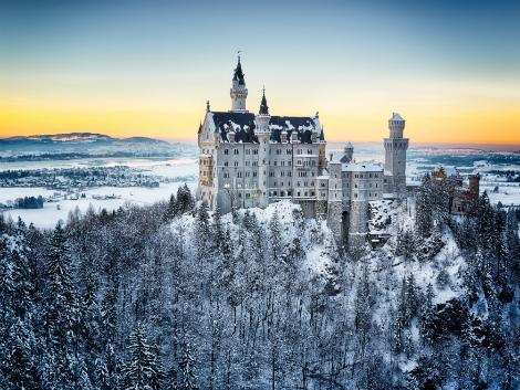 ◇雪の中のノイシュバンシュタイン城