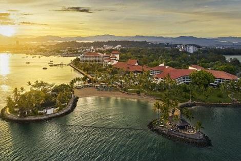 コタキナバル:シャングリラズ タンジュン アル リゾート アンド スパ 全景