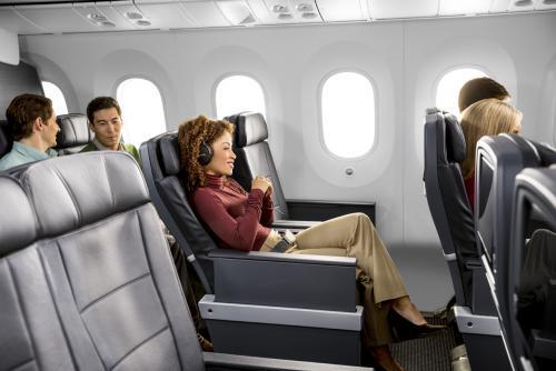 アメリカン航空プレミアムエコノミー 座席(イメージ)