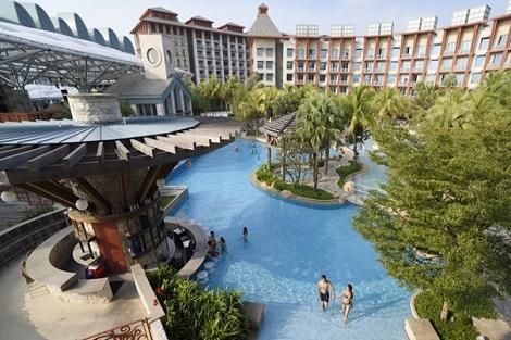 セントーサ島:ハード ロック ホテル シンガポール プール