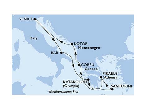 MSCマニフィカ2019年航路