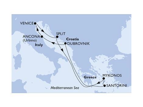 MSCシンフォニア2019年航路