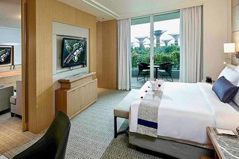シンガポール:マリーナベイサンズ Orchid Suite Garden View 客室一例/提供:Marina Bay Sands