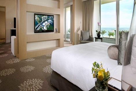シンガポール:マリーナベイサンズ Bay Suite Garden View 客室一例/提供:Marina Bay Sands
