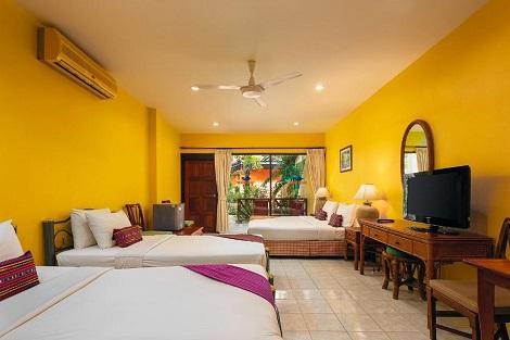 サムイ島:トレードウインズ バイ ラワナ ホテル ファミリールーム 客室一例