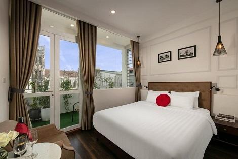 ハノイ ビジョン ブティック ホテル ファミリールーム 客室一例