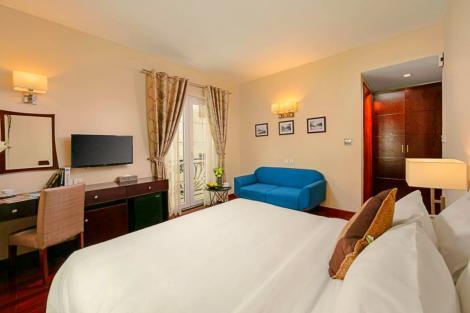 ハノイ サンライン ホテル:レトロ感のある客室