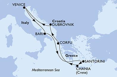 MSCマニフィカ2020年夏航路