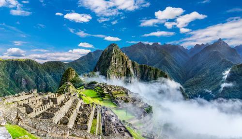 15世紀に造られたインカ帝国の遺跡『マチュピチュ遺跡』(イメージ)