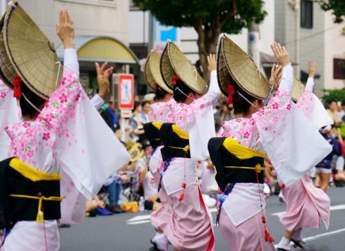 日本の伝統舞踊 阿波おどり