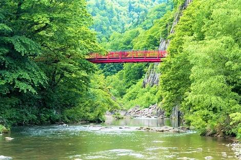 定山渓温泉:二見吊橋