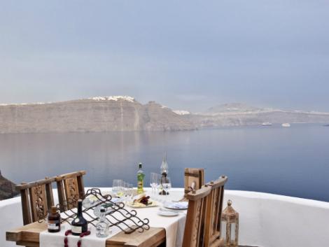 サントリーニ島:アンドロニス ラグジュアリー スイーツ レストラン
