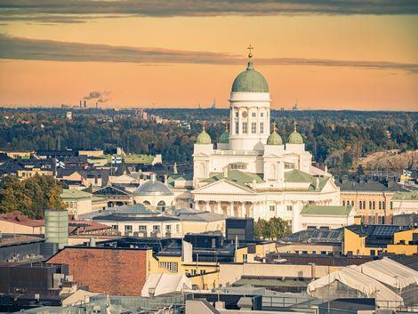 ◇ヘルシンキ:夕暮れの大聖堂