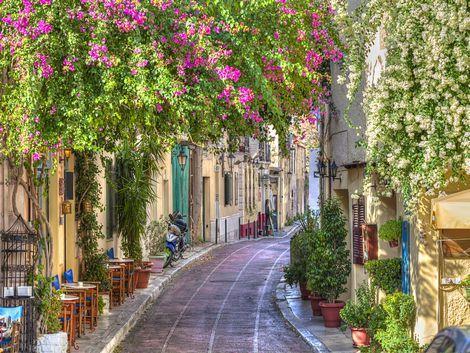 ◇◎アテネ:プラカ地区の街並み