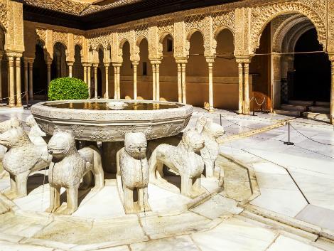 ◇◎グラナダ:アルハンブラ宮殿 ライオンの中庭