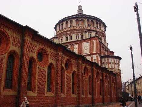 ミラノ:サンタマリアデッレグラツィエ教会