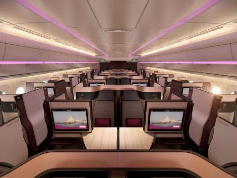 カタール航空 ビジネスクラスシート