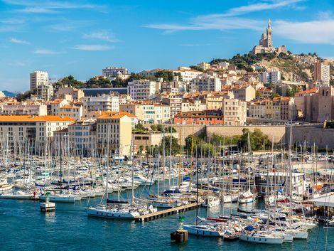 ◇◎マルセイユ:港とノートルダム寺院