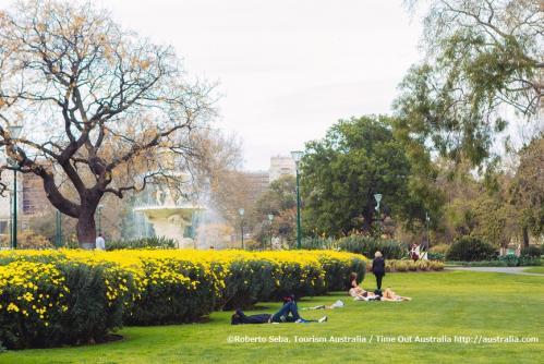 19世紀に造園が開始され、世界遺産でもあるカールトン庭園(メルボルン)