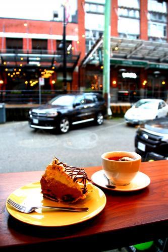 カフェやレストランの多いイエールタウン(バンクーバー)