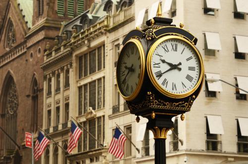 ニューヨーク 街並み 時計