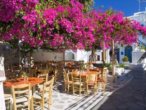 ◇◎ミコノス島:街中のカフェ