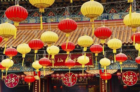 香港:黄大仙のランタン