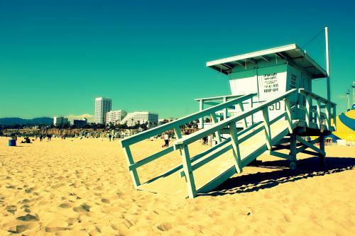 サンタモニカのビーチ