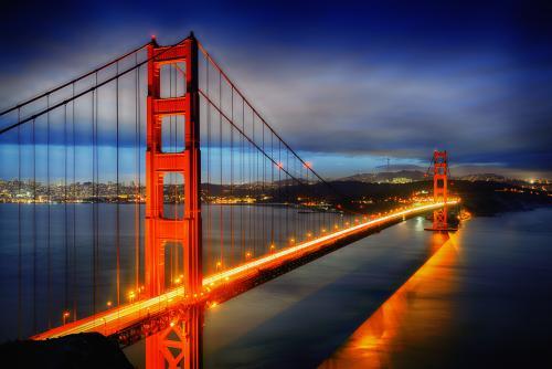 絶景のゴールデン・ゲート・ブリッチ(サンフランシスコ)