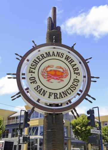 フィッシャーマンズワーフの看板(サンフランシスコ)
