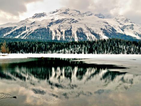 ◇◎サンモリッツ:冬の湖