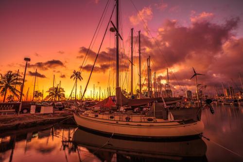 サンセットの風景(ハワイ)