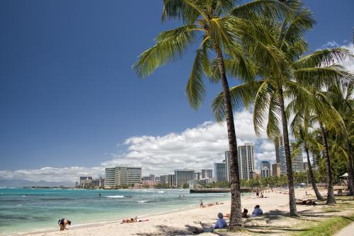 リゾート感満点のワイキキビーチ♪(オアフ島)