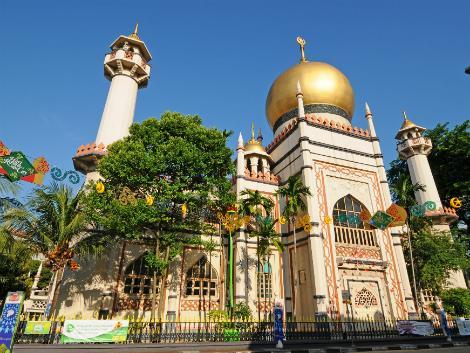 シンガポール:シンガポール最古のイスラム教寺院 サルタンモスク