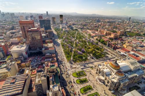 メシキコシティの街並み