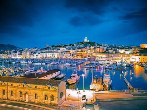 ◇◎マルセイユ:港の夜景