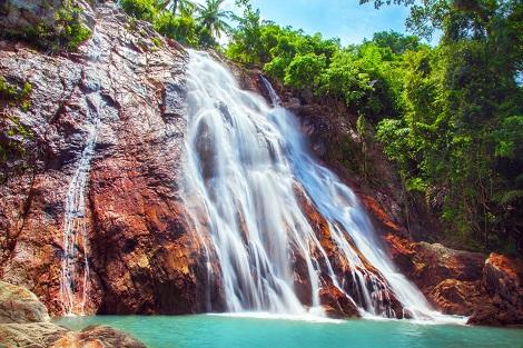高低差20m以上!ダイナミックなナンムアンの滝