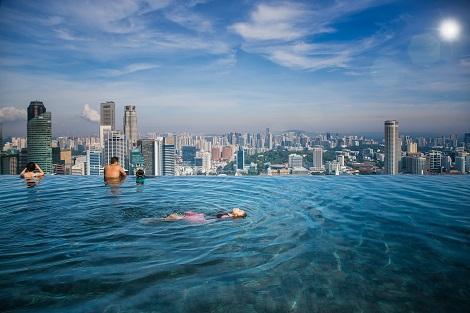 シンガポール:マリーナベイサンズ インフィニティプール