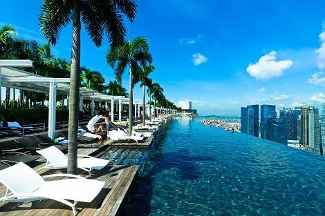 シンガポール:マリーナベイサンズ Infinity Pool at Sands SkyPark/提供:Marina Bay Sands