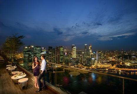 シンガポール:マリーナベイサンズ 夜景/提供:Marina Bay Sands