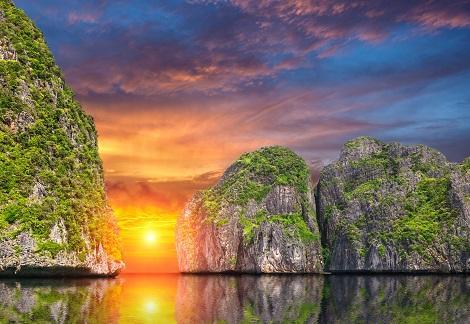 ピピ島:サンセット