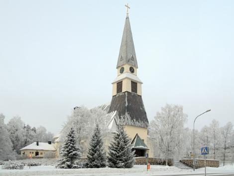 ◇◎ロバニエミ:冬のロバニエミ教会